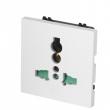 Šuko 220V strujna utičnica univerzalna (10A) - modul dim. 45x45mm (2M) bele boje NP0345MU