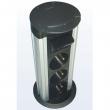 Komunikacioni stoni mini-stub na izvlačenje, visine 18cm od aluminijuma sa 4 slota za module 45x45mm (8M) NA2300DP180A