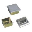 Upodna kutija sa poklopcem od legure aluminujuma i 2 slota za 45x45mm module (4M) NLBHTD26L