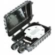 Fiber optička spojnica do 48 fiber vlakana IP68 - 2 uvodnika za kabl, 4 splajs kasete po 12 fibera