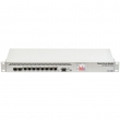 "MikroTik CCR1009-7G-1C-1S+ Cloud Core Router 7 x GbE RJ45+ SFP slot+ 10GbE SFP+slot +USB, CPU 9 cores x 1.2GHz, 2GB RAM, touchscreen LCD, VPN-BGP-MPLS-3G ruter/ firewall/ bandwith manager/ load balance, 19"" rack, ROS L6"