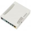 MikroTik RB951Ui-2HnD high power 1000mW (30dBm) ruter 300Mb/s WiFi 2.4GHz sa 5 x 10/100Mb/s LAN/WAN (PoE in 7-31V), USB (za 3G/LTE modem), VPN ruter/firewall/bandwith manager/load balancer, CPU 600MHz, 128MB RAM, ROS L4