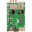 MikroTik RouterBoard RB953GS-5HnT – 3x Gigabit LAN/WAN+2 x SFP slota, 3x3 MIMO 300Mb/s high power 1600mW wireless 802.11n sa 3x RPSMA, USB, 2 x miniPCIe (3G/LTE/WiFi), 2 x SIM slot, CPU Scorpion 720MHz, 128MB RAM, ROS L5