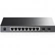 TP-Link TL-SG2210P PoE upravljiv svič 8-port Gigabit 10/100/1000Mb/s 802.3af do 53W+ 2 x SFP Gigabit, 512 VLANs 802.1Q, SNMP, RMON, QoS 802.1p priority, ACL L2~L4, Link Aggregation, Rate limit, WebGUI & CLI