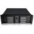 """Rack-mount 3U/19"""" kućište sa dual vratima i ključem, max. ATX 12""""x9.6"""" MB format, USB 2.0 + 2 x 5.25"""" + 1 x 3.5"""" DriveBay, 6 x 3.5"""" int. disk, mesto za standardni ATX PSU, dubina 390mm (NI-N3052)"""