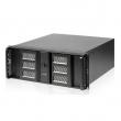 """Rack-mount 4U/19"""" kućište sa dual vratima i ključem, max. 12""""x10.5"""" MB format, 2 x prednji USB + 3 x 5.25"""" mesta napred, 8 x 3.5"""" int. disk, mesto za standardni ATX PSU, dub. 480mm (NI-N4058)"""