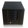 "Desktop kućište za NAS sa 4 x3.5"" Hotswap, 1 x USB 3.0 + 1 x ON/OFF prekidač,  Mini-ITX MB format, ventilator 12cm, prihvata 1U napajanja do 250W, dim. 221x154x240mm (N4)"