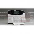 Alarmna protivprovalna GSM centrala sa 8 žičnih i 99 bežičnih zona, daljinska komanda, LCD displej, GSM dojava na 6 telefona (poziv) i SMS na dva broja, jednostavno programiranje i dodavanje bežičnih detektora (PG-500)