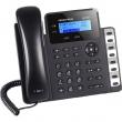 Grandstream-USA GXP-1628 SoHo 2-line/2-SIP VoIP telefon, LCD 132x48 displej i 2 x Gigabit UTP porta, PoE