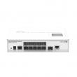 MikroTik CRS212-1G-10S-1S+IN L3 upravljiv svič 11 x GbE (1xRJ45 + 10xSFP) + 1 x 10GbE (SFP+), LCD, CPU 400MHz, 64MB RAM, VPN ruter/ firewall/ bandwith manager/ load balancer, desktop, RouterOS L5