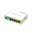 MikroTik RB750UPr2 hEX PoE lite 3G/4G-LTE & PoE svič–ruter 5 x LAN/WAN port 10/100Mb/s (4 Passive PoE) + USB, VPN ruter/firewall/bandwith manager/load balance, PoE in 6-30V, CPU 650MHz, 64MB RAM, temp. -30ºC÷70ºC, ROS L4
