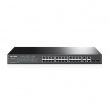 "TP-Link TL-SL2428P / T1500-28PCT JetStream™ PoE+ upravljiv svič 24-port 10/100Mb/s 802.3at/af do 180W + 4 x 10/100/1000Mbps + 2 x Combo SFP, 802.1Q VLAN, Port Security, Storm control, L2/L3/L4 QoS, 19"" rackmount"