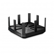 TP-Link Talon AD7200 Gigabit Triple Band 7200Mb/s Router 802.11ad/ac/a/b/g/n High Power Beamforming (4600Mb/s@60GHz, 1733Mb/s@5GHz, 800Mb/s@2.4GHz), 2 x USB (File&Print), iOS & Android ap, IP QoS, WPS, MU-MIMO, 9 antena