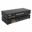 VGA svič CKL-41S 4-IN/1-OUT + Audio, bandwidth 450MHz, Max resolution 2048x1536, with I/R remote control