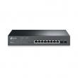 TP-Link T1500G-10MPS JetStream™ PoE+ upravljiv svič 8-port Gigabit 10/100/1000Mb/s 802.3at/af do 116W+ 2 x SFP Gigabit, 4K VLANs 802.1Q, QoS L2 to L4, GUI, CLI, SNMP (v1/2/3),RMON