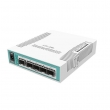MikroTik CRS106-1C-5S L3 upravljiv svič 6 x GbE (5xSFP+RJ45/SFP combo), CPU 400MHz, 128MB RAM, PoE in, VPN ruter/ firewall/ bandwith manager/ load balancer, RouterOS L5