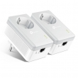 TP-Link TL-PA4010PKIT 600Mbps AV600 Powerline Adapter Kit (2 kom komplet) sa integrisanom šuko utičnicom za mrežu preko strujne instalacije, plug&play instalacija, domet do 300m