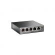 TP-Link TL-SF1005P PoE svič 5-port 10/100Mb/s, 4 PoE porta 802.3af do 58W (15.4W po portu), PoE Port Priority Function - Overload Arrangement, 802.3x flow control, auto-uplink every port, Eco energy-efficient