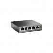 TP-Link TL-SF1005P PoE svič 5-port 10/100Mb/s, 4 PoE porta 802.3af do 58W (15.4W po portu), PoE Port Priority Function - Overload Arrangement, 802.3x flow control, auto-uplink every port, Eco energy-efficient