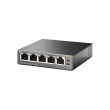 TP-Link TL-SG1005P PoE svič 5-port Gigabit 10/100/1000Mb/s, 4 PoE porta 802.3af do 56W (15.4W po portu), 802.1p/DSCP QoS, PoE Port Priority Function - Overload Arrangement, auto-uplink every port, Eco energy-efficient
