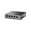 TP-Link TL-SG1005P PoE svič 5-port Gigabit 10/100/1000Mb/s, 4 PoE porta 802.3af do 56W (15.4W po portu), 802.1p/DSCP QoS, PoE Port Priority Function - Overload Arrangement, auto-uplink every port, Eco energy-efficient