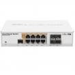"MikroTik CRS112-8P-4S-IN L3 upravljiv PoE svič 12 x GbE (8xRJ45 PoE + 4xSFP), desktop/19"", CPU 400MHz, 128MB RAM, auto-sensing 802.3af/at PoE/PoE+, VPN-3G ruter / firewall / bandwith manager / load balancer, RouterOS L5"