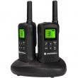 Voki toki Motorola TLKR T61 (par),8 kanala na slobodnim frekvencijama PMR446, 121 privatni kod, hands-free, LCD displej, punjač s postoljem, dopunjive NiMH baterije sa indikatorom, sobni monitor, domet od 150 m do 8 km