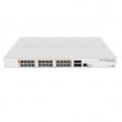 "MikroTik CRS328-24P-4S+RM L3 upravljiv PoE svič 24 x GbE + 4 x SFP+, 1U/19"", CPU 800MHz, 512MB RAM, auto-sensing 802.3af/at PoE/PoE+, VPN-3G ruter / firewall / bandwith manager / load balancer, RouterOS L5"
