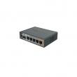 MikroTik RB760iGS hEX S ruter sa 5 x Gigabit LAN / WAN port + SFP + USB, microSD slot, PoE in & out, IPsec acelerator VPN ruter/ firewall/ bandwith manager/ load balance, CPU 880MHz, 256MB RAM, temp. -40ºC÷70ºC, ROS L4