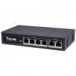 Vivotek AW-FET-060C-065 802.3af/at PoE/PoE+ svič, 4xFE RJ45(PoE) +2xFE RJ45 uplink, power budžet 60W, dva EXPoE porta sa dometom do 200m@10Mb/s