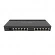 "MikroTik RB4011iGS+RM ruter sa 10 Gigabit LAN / WAN portova + 1 SFP+ 10Gbps slot, VPN ruter/ firewall/ bandwith manager/ load balance, Passive PoE in/out, CPU Quad-core 1.4GHz, 1GB RAM, desktop / 19"" rack, ROS L5"