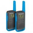 Voki toki Motorola TLKR T62 (par),plava boja, 16 kanala na slobodnim frekvencijama PMR446, 121 privatni kod, skeniranje kanala/monitor, LCD displej, microUSB punjač, dopunjive NiMH baterije, domet do 8km