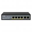 Cudy FS1006P PoE+ svič 6-portni 10/100Mb/s (4 PoE 802.3at/af do 65W)