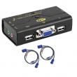 KVM VGA svič CKL-21UA  2 ports USB + 2 cables USB - bandwidth 250MHz, 2048x1536p, with audio & microhpone
