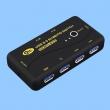 USB svič CKL-24U3 4-portni: 2-ulaza 4-izlaza, USB 2.0 /3.0, za deljenje štampača, skenera, miša, tastature, HDD