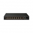 Cudy FS1009PS1 PoE+ svič 8-port 10/100Mb/s PoE 802.3at/af do 120W (max. 32W po portu) + 1 Gigabit SFP slot,  VLAN & CCTV, prenaponske zaštite, MTBF≥50,000h (5.7god)