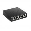 D-Link DES-1005P PoE+ svič 5 port 10/100Mb/s, 4 PoE porta 802.3at do 30W, ukupan PoE budžet 60W, 802.1p QoS (4 reda), 802.3az Energy Efficient Ethernet (EEE)