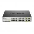 D-Link DES-1018MP PoE svič 16 port 10/100Mb/s PoE 802.3af do 15.4W + 2 Gigabit combo 10/100/1000Base-T / SFP, PoE budžet 246.4W, 7.2Gb/s capacity, 802.3az Energy Efficient Ethernet (EEE), interno napajanje AC100-240V