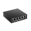 D-Link DGS-1005P/E PoE+ svič 5 port 10/100/1000Mb/s, 4 PoE porta 802.3at do 30W, ukupan PoE budžet 60W, 802.1p QoS, 802.3az Energy Efficient Ethernet (EEE), metalno desktop kućište