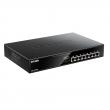 D-Link DGS-1008MP PoE+ svič 8 port 10/100/1000Mb/s PoE 802.3at do 30W, ukupan PoE budžet 140W, 802.1p QoS, metalno desktop kućište