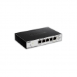 D-Link DGS-1100-05PD 5 port Gigabit Smart upravljiv PoE desktop svič, 2 PoE porta 802.3af, napajanje 802.3af/at Passthrough preko porta 5, 802.1Q VLAN, 802.1p QoS, IGMP snooping, Port mirroring, bez ventilatora