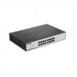 "D-Link DGS-1100-16 16 port Gigabit Smart upravljiv desktop / 19"" rackmount svič, 802.1Q VLAN, 802.1p QoS, 802.3ad Link aggregation, IGMP snooping, Bandwidth control, Port mirroring, 802.3az EEE, Cable diagnostic LED"
