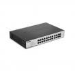 "D-Link DGS-1100-24 24 port Gigabit Smart upravljiv desktop / 19"" rackmount svič, 802.1Q VLAN, 802.1p QoS, 802.3ad Link aggregation, IGMP snooping, Bandwidth control, Port mirroring, 802.3az EEE, Cable diagnostic LED"