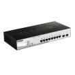 "D-Link DGS-1210-10P 10 port Gigabit L3-lite upravljiv PoE+ 19""/1U rackmount svič, 8xRJ-45 PoE 30W+2xSFP (65W budžet), VLAN, 802.3ad agregacija, MSTP, QoS, Static rute, ACL, RADIUS & 802.1X AAA, Dual image"