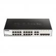 "D-Link DGS-1210-20 20 port Gigabit L3-lite upravljiv 19""/1U rackmount svič, 16xRJ-45+4xCombo RJ-45/SFP, VLAN (Voice & Surveilllance), 802.3ad agregacija, MSTP, QoS, Static rute, ACL, RADIUS & 802.1X AAA, Dual image"