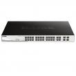 "D-Link DGS-1210-24P 28 port Gigabit L2 upravljiv PoE+ 19""/1U rackmount svič, 24xRJ-45 PoE 30W+4xCombo RJ-45/SFP (193W budžet), VLAN (Voice & Surveilllance), 802.3ad, RSTP, QoS, ACL, RADIUS & 802.1X AAA, Dual image"