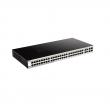 "D-Link DGS-1210-52 52 port Gigabit L3-lite upravljiv 19""/1U rackmount svič, 48xRJ-45+4xCombo RJ-45/SFP, VLAN (Voice & Surveilllance), 802.3ad agregacija, MSTP, QoS, Static rute, ACL, RADIUS & 802.1X AAA, Dual image"