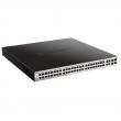 """D-Link DGS-1210-52MP 52 port Gigabit L3-lite upravljiv PoE+ 19""""/1U rackmount svič, 48xRJ-45 PoE 30W+4xCombo RJ-45/SFP (budžet 370W), VLAN, 802.3ad agregacija, MSTP, QoS, Static rute, ACL, RADIUS & 802.1X AAA, Dual image"""