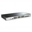 "D-Link DGS-1510-28P 28 port L3-lite stekabilan PoE+ upravljiv 19""/1U svič, 24xRJ-45 PoE 30W+2xSFP+2x10G SFP+ (budžet 193W), LLDP/LLDP-MED, 802.3ad, MSTP, QoS, Static rute, ERPS, ACL, BDPU & DoS Attack prevencija"