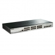 "D-Link DGS-1510-28X 28 port L3-lite stekabilan upravljiv 19""/1U svič, 24xRJ-45+4x10G SFP+, LLDP/LLDP-MED, 802.3ad agregacija, MSTP, QoS, Static rute, ERPS, ACL, BDPU & DoS Attack prevencija, RADIUS & 802.1X AAA"